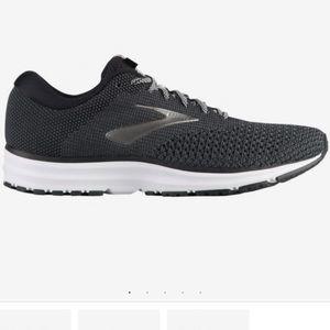 Brooks Black, Gray, & White Revel 2 Running Shoes